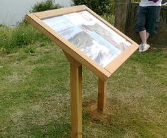 Musketeer Range oak interpretation lectern