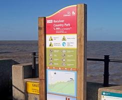 Water safety signage in Kent