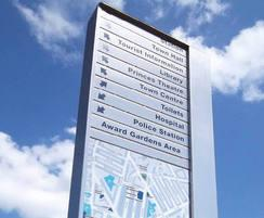 dCipher™ wayfinding monolith - Clacton-on-Sea