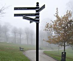 Traditional parkland fingerpost