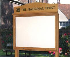 Single door oak noticeboard for the National Trust