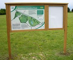 Oak combination display with magnetic back board
