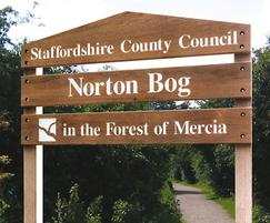 Softwood ladder sign with pitched top