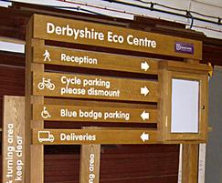 Oak ladder sign with face mounting notice board