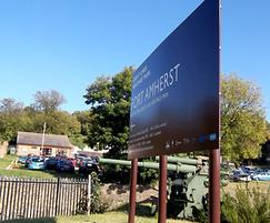 Fort Amherst visitor welcome sign