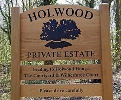 Holwood Estate estate entrance sign