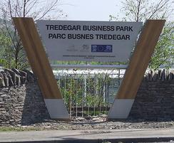 Signage at Tredegar Business Park