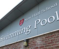 New Hall School profiled lettering