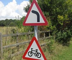 New Hall school road traffic sign