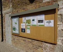 Bespoke notice board Harlow town park
