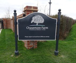 Cavalier style main entrance sign, Chasemore Farm