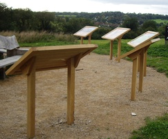 Musketeer interpretation lecterns for City of London