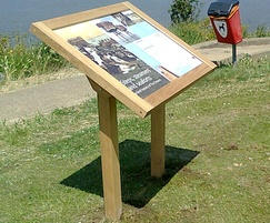 Musketeer interpretation panel by seafront