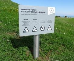 nviro badging sign, Battle of Britain Memorial Trust