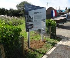Freestanding interpretation sign, Battle of Britain