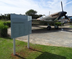 Freestanding welcome sign, Battle of Britain Memorial