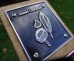 etched zinc plaque tilgate park