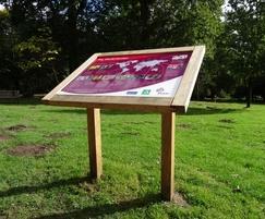 Twin leg oak lectern tilgate park2