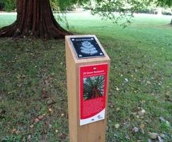 waymarking post with plaques tilgate park