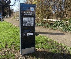Bespoke monolith with information panel