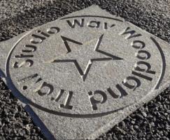 Movie inspired floor plaque