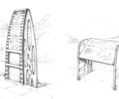 Drawings for interpretation sign