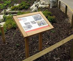 Musketeer Wood Lectern Heritage Interpretation Board