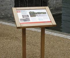 Musketeer Wood Lectern Information Sign