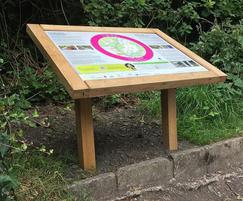 Musketeer Wood Lectern Interpretation Board