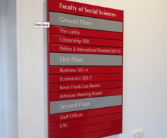 Wall-mounted directories support wayfinding