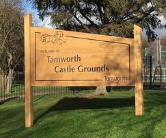 Oak park welcome signage - Tamworth Castle
