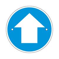 Arrow waymarking disc: blue