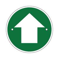 Arrow waymarking disc: green