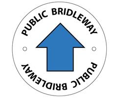 Public bridleway waymarking disc