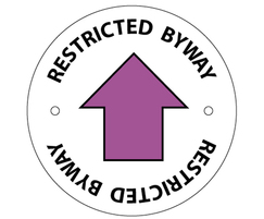 Public Right of Way (PRoW) / restricted byway disc