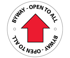 Public Right of Way (PRoW) byway waymarking disc
