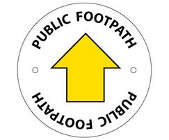 Public footpath waymarking disc