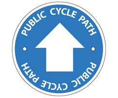 Public cycle path waymarking disc