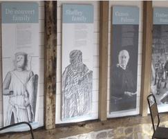 Interpretation panels for visitor centre