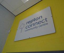 Community centre signage