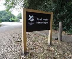 National Trust orientation sign