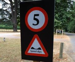 National Trust traffic signpost