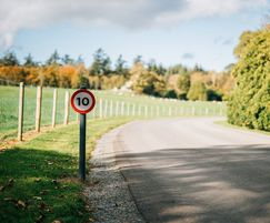 The estate required signage for speed restrictions