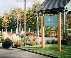 The signage adhered to the estate's branding