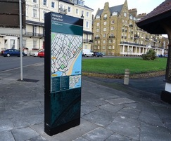 Enigma wayfinding monolith - Ramsgate