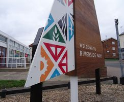 Signs feature a fully-welded stainless steel frame