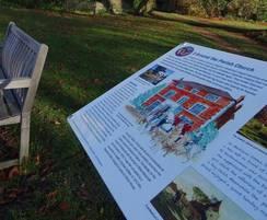 Interpretation lectern for village heritage trail