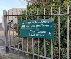 The signs include iconic images of Ramsgate
