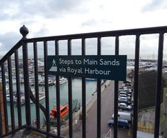 The sign designs embrace the town's maritime heritage
