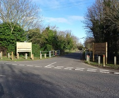 Wooden routed park entrance sign